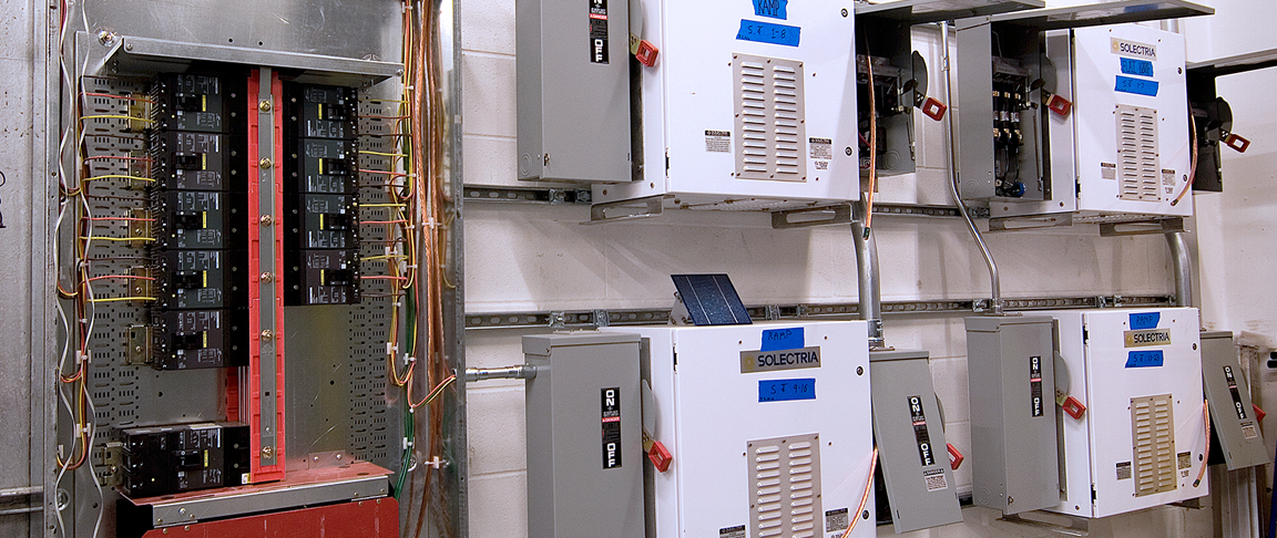 Inverters help convert the solar-generated power from DC to AC