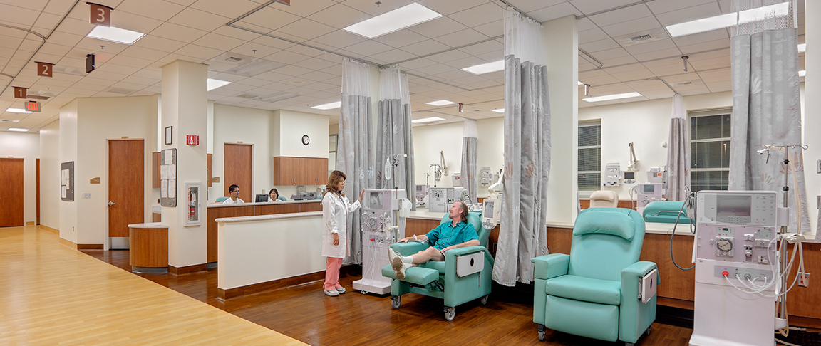 Medical patient-focused area