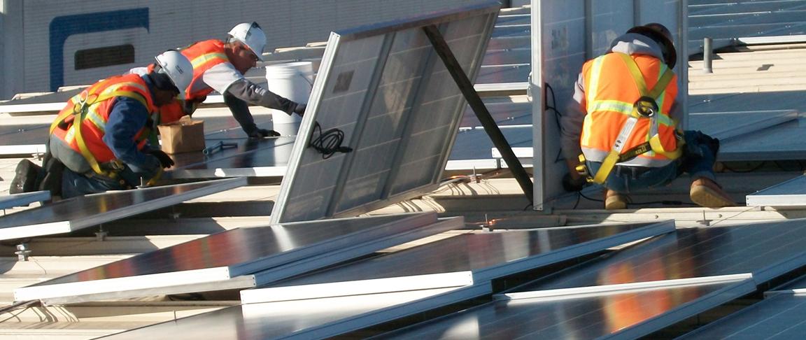 Solar PV rooftop installation