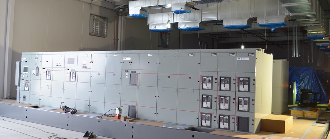 Prefabricated modules delivered and installed at the data center site