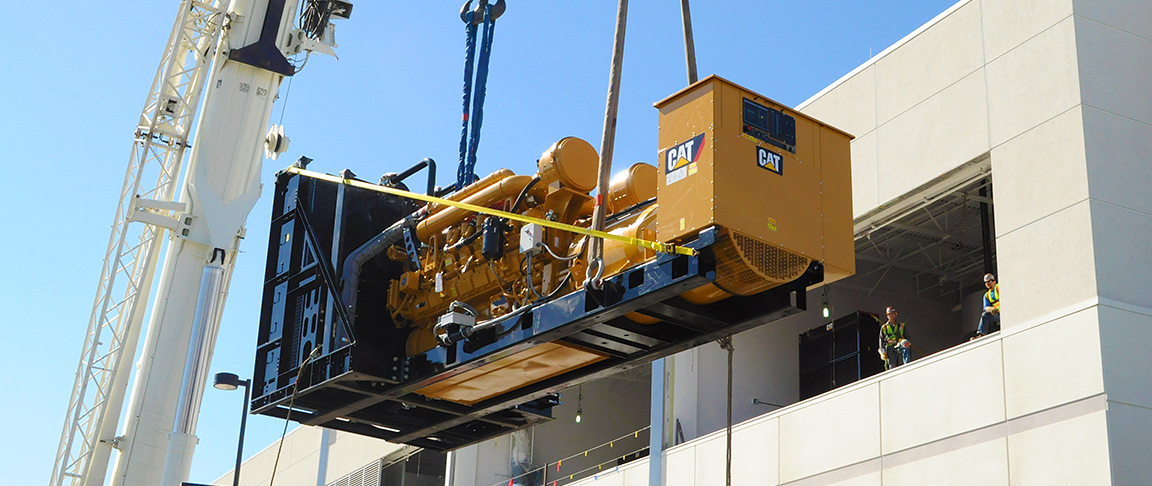 Transplanting generators into the main data center building