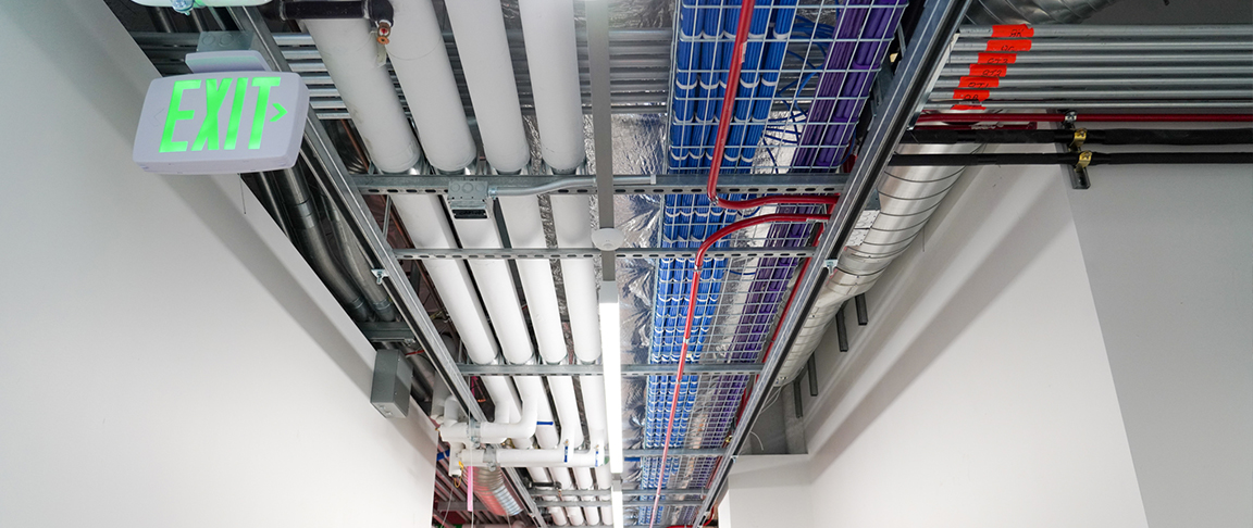 Low voltage electrical installation at the MPK 62 and 63 tenant improvement project