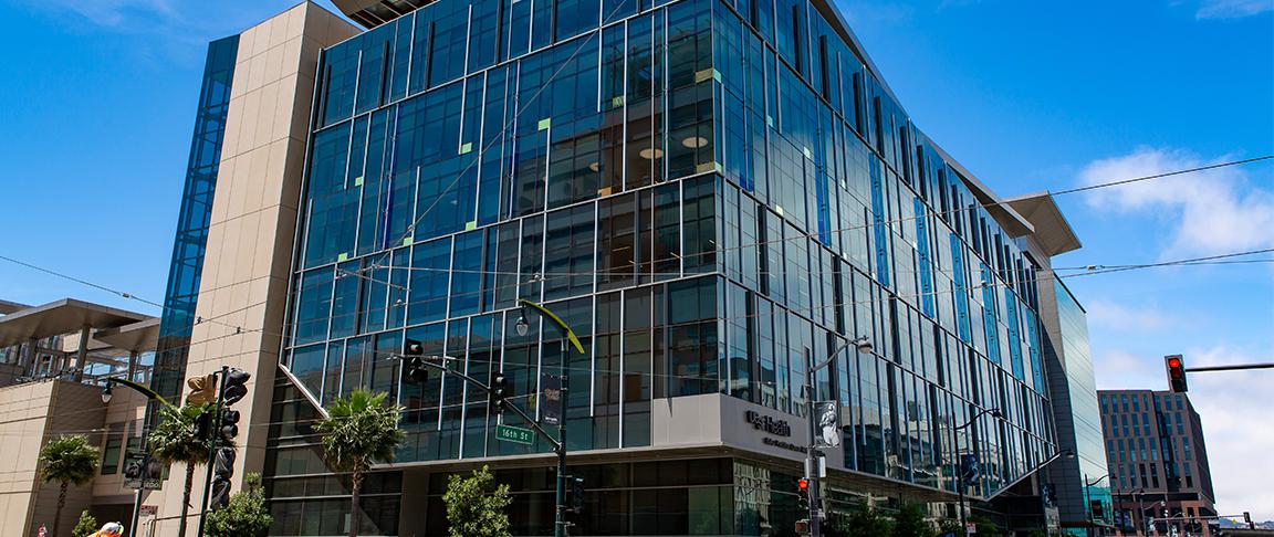 The exterior of the Precision Cancer Medicine Building