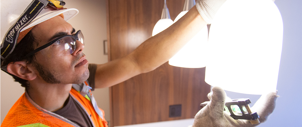Cupertino Electric union electrician puts the final touches on The Emerson