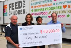 Feed the Children Receives $60K check from Cupertino Electric's $60K Nonprofit Giveaway
